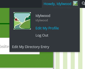 Edit My Directory Entry